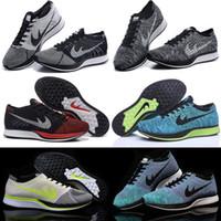 Wholesale 2016 New Running Shoes Free RN Flyline Men Women Sneakers Racer Black White Volt Oreo FreeRun Kids Shoes Size