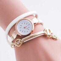 Wholesale A global hot Angel table Bracelet Watch Diamond PU round table Ms
