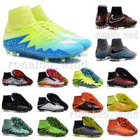 Wholesale 2016 New original mens outdoor high ankle football boots Neymar FG Hypervenom Phantom II soccer cleats Superfly Ronaldo soccer shoes