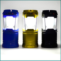 Wholesale Super Bright Solar energy Portable Camping Lantern Outdoor Light Hiking Camping Hangable Flashlight Camping Lanter DHL