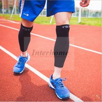Wholesale Cycling Sports Leg Socks Compression Leg Sleeve Fitness Leg Warmers Calf Guard Protector Gear Running Elastic Knee Pads Protector B564