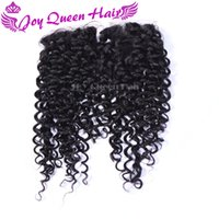 Cheap 4x4 Brazilian Human Hair Silk Base Lace Closure Curly wave Free Middle Three part Lace Frontal Closure Peruvian Indian Hair Top Closure