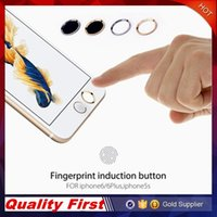 Wholesale Benks Key Button Metal Round Home Keyboard Finger Smart Fingerprint Sensor Keypad Sticker Touch ID For iPhone S plus with Paper Package