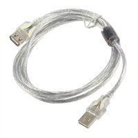 Wholesale New m USB M Male to F Female Extension Cable Transparent