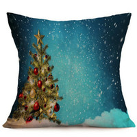 Wholesale 43 CM Xmas Santa Claus Pattern Throw Pillow Cover Skin christmas Home Car Party Hotel Decoration Pillow case Cushion
