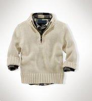 Estilo 2016 de la ropa del muchacho del invierno estilo caliente de la venta de la alta calidad de la venta de las cremalleras suéteres S-XXL de los suéteres