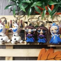 batch stainless steels - Cute cartoon key pendant jewelry mixed batch cute cartoon D key chain