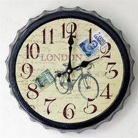 beauty beer - FuLe Home Decor Wall Clocks Decorative wall hanging Environmental beauty Eurppe quiet Shape of beer cover SC633