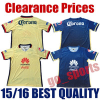 best club soccer jerseys - 15 Club America Home Yellow Away Blue Soccer Jerseys Best Quality D BENEDETTO R SAMBUEZA P AGUILAR MICKY O MARTINEZ Soccer Jersey