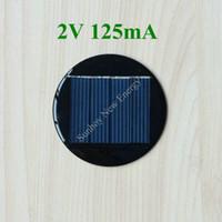 venda por atacado solar cell-200pcs / lot Mini Rodada Célula solar 2V 125mA 67 milímetros de diâmetro