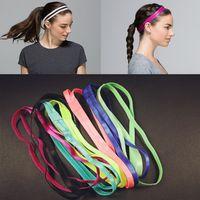 anti grey hair - Women Yoga Fitness Hair band rope Headband Anti slip Elastic Rubber Sweatband Soccer Running Sports Headwear