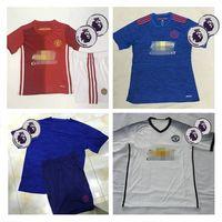 Wholesale Whosales Manchesters UTD Soccer Jersey Soccer Uniforms kit Sets Zlatan Ibrahimovic Martial Thai Quality ROONEY Memphis jerseys