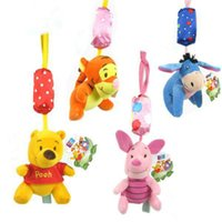 animal crib mobile - baby bed hanging toys mobile in a crib baby toys plush toys Baby rattles hanging bell chimes baby chimes