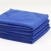 Wholesale blue towel Microfiber Cleaning Towel Car Washing Nano Cloth Dishcloth Bathroom Clean Towels Rectangle x70cm
