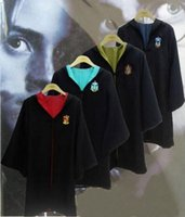 Wholesale Harry Potter Robe Gryffindor Cosplay Costume Kids Adult Harry potter Robe cloak styles Halloween Gift b482