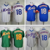 Cheap Darryl Strawberry Jersey Cheap New York Mets #18 Darryl Strawberry Jersey Throwback Baseball Jersey High Quality Stitched Embroidery Logos