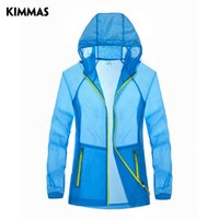 air clothes dryer - KIMMAS summer new outdoor sports and leisure clothing female skin sunscreen clothes windbreaker thin air drying skin coat