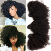 Wholesale Brazilian Hair Afro Kinky Curly Natural Black Color Malaysian Hair Bundles Indian Mongolian Human Hair Weaves