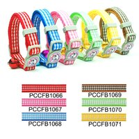Wholesale Hot Selling High Quality colors Checkers Print Cat Collar Buckle style set cm