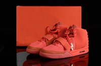 """Cheap (With BOX shoes) Cool !Trainers Kanye West Signs Fans Air 2 """"Red October"""" men's Sneakers Shoes Basketball Shoes Size Euro40-47"""