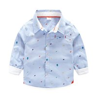 Wholesale Children Shirt Cotton Star Print Baby Sark New Kid Clothes Autumn Winter for Boys Casual Long Sleeves