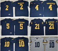Wholesale 2016 New Michigan Wolverines Jersey College Tom Brady Charles Woodson Jim Harbaugh Jabrill Peppers Desmond Howard