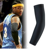 Wholesale Hot Top Basketball Bracer Bar Lengthen Armguards Sunscreen Sports Protective Forearm Elbow Pad Sleeve Arm Warmers Set