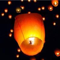 sky lanterns - Hot sell FIRE SKY CHINESE LANTERNS BIRTHDAY WEDDING PARTY UFO WISH GOOD LUCKY SMART LANTERNS