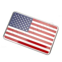 american buick - 1pcs Aluminum Alloy American Flag Car stickers logo Car Styling For Cadillac Buick Chevrolet Lincoln Chrysler Jeep Dodge Focus