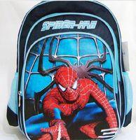 Wholesale 50cs Hot Sale Spiderman School Bag Cartoon Children Backpack Student Rucksack G292