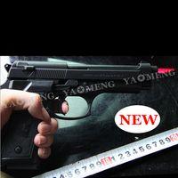 decorative fans - Fedex free Matte black M9 pistol lighter metal oversized ornaments wind simulation model props Military fan Collection gun m