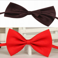 Wholesale New Arrival Fashion Cute Kids Bow Tie Children Butterfly Type Necktie pets bow ties solid color