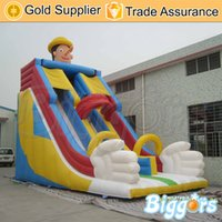 best jump inflatables - Best Price Jumping Toys PVC Material Inflatable Double Slides For Fun