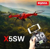 Wholesale Drones SYMA X5SW WIFI RC Drone FPV Helicopter Quadcopter with HD Camera G Axis Real RC Helicopter Toy