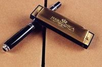 Wholesale Copper Professional Hole Diatonic Harmonica Key of C Blues King Harmonica mouth organ beginner