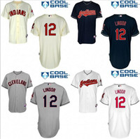 Wholesale Francisco Lindor Baseball Jerseys Cleveland Indians Authentic Baseball Jerseys Embroidery stitched onfield Home Color Stitched M XL