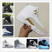 airs sports games - With Box Cheap Air retro XII Basketball Shoes ovo White Mens Black wool GS Barons flu game taxi playoffs Athletics Sneakers Sports shoes