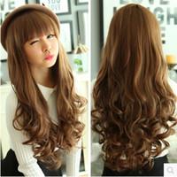 Wholesale Long curly hair fluffy wig wig female big wave fashion cute hair wig