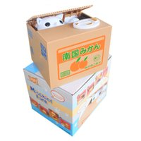 best gifts bank - Creative Money Boxes for Children Cat Saving Box Automatic Stealing Coin Piggy Bank Funny Safes Saving Money Best Gifts for Kids