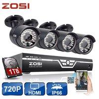 Wholesale ZOSI CH CCTV System P HDMI AHD CCTV DVR MP IR Outdoor Security Camera Led TVL Home Surveillance System TB HDD