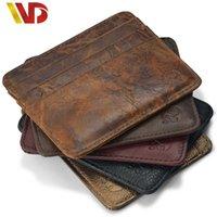 american carts - NEW Genuine Leathe magic wallet Credit Cart Wallet mini slim wallet card id holders man women business credit card holder money clip