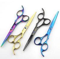 Wholesale Purple titanium inch high quality hairdresser shear hair salon product hot sale hair scissors Hairstyling Scissors Salon