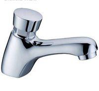 Wholesale Bathroom Public Place Toilet Delay Push Self Closing Tap Saving Water Basin Sink Faucet Soild Brass Chrome Finish