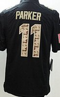american parker - Miami11 Parker Wallace Marino Landry Csonka Wake Suh Men s Black Salute to Service American football Jerseys
