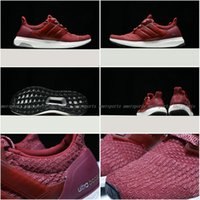 Wholesale 2017 New Ultra Boost Big Red Running Shoes Woman Ultraboost Primeknit Runs Fashion Women Shoes Casual Ultrals Boosts