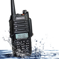 band dust - Retevis RT6 IP67 Waterproof Anti dust Walkie Talkie Dual Band W VHF UHF Mhz Mhz FM Radio Two Way Radio A9114A