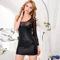 Wholesale 2016 lead the fashion hot black tight fitting hip single arm dress OYR7858