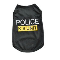 apparel shirts - New Dog Apparel Fashion Cute Dog Vest Pet sweater Puppy Shirt Soft Coat Jacket Summer Dog Cat Clothes Police K Unit
