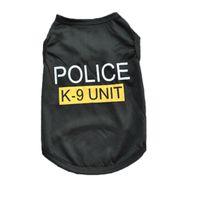 venda por atacado roupas para animais de verão-New Dog Vestuário Moda bonito Vest Dog Pet camisola do filhote de cachorro revestimento macio Jacket Verão para caes Gato polícia K-9 Unit