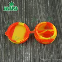 Cheap Silicone Box 10ml Silicon Container Non-stick Food Grade Wax Jars Storage Jar Oil Holder For Vaporizers DHL shipment -F023